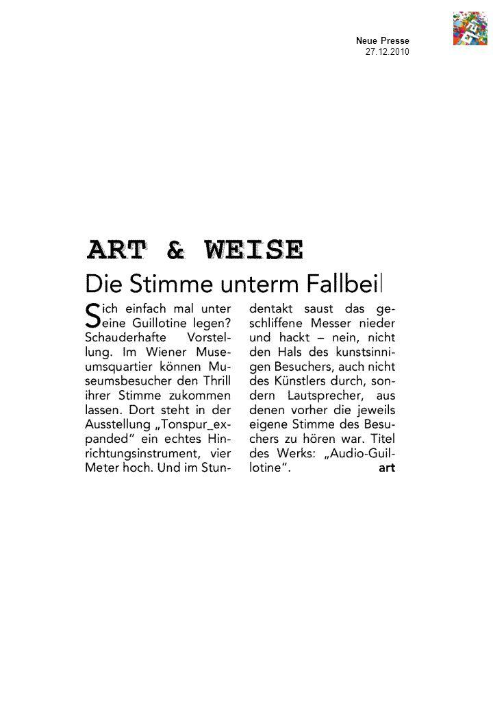 Neue Presse 27.12.2010