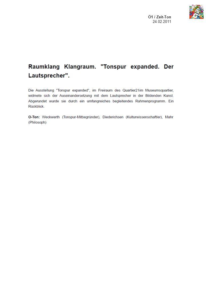 Ö1 / Zeit-Ton 24.02.2011