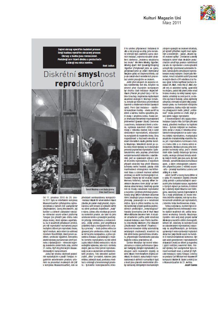 Kulturi Magazin Uni März 2011