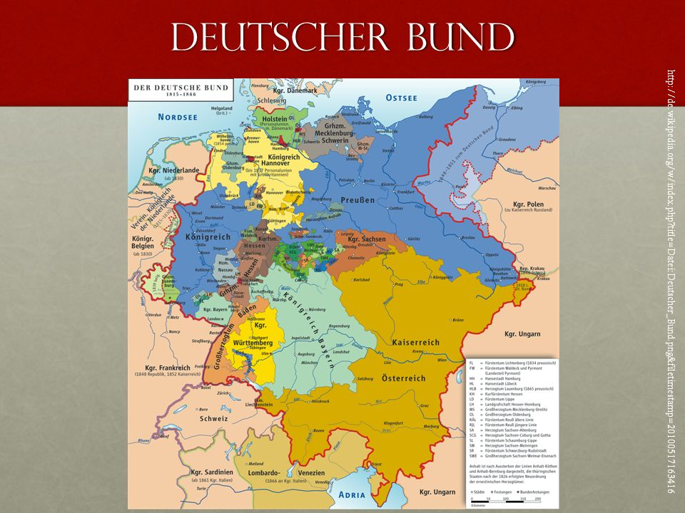 Deutscher Bund http://de.wikipedia.org/w/index.php?title=Datei:Deutscher_Bund.png&filetimestamp=20100517163416