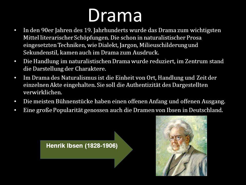 Drama In den 90er Jahren des 19.