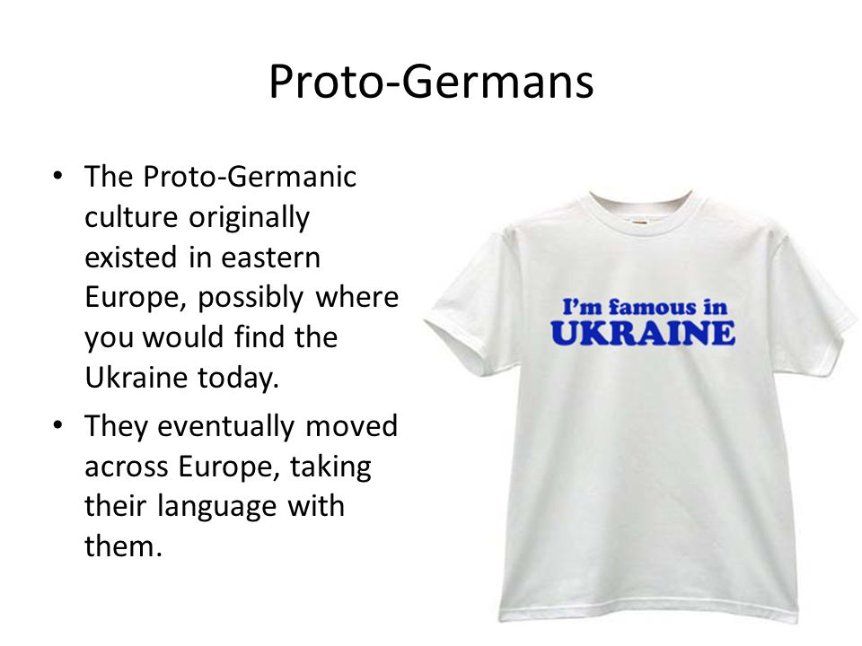 Proto-Germanic It is believed that PIE evolved into several different language families, including the Indo-European group. Many language groups in Eu