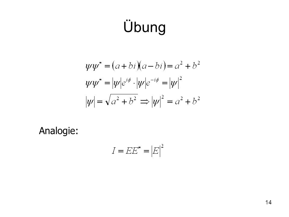 14 Übung Analogie: