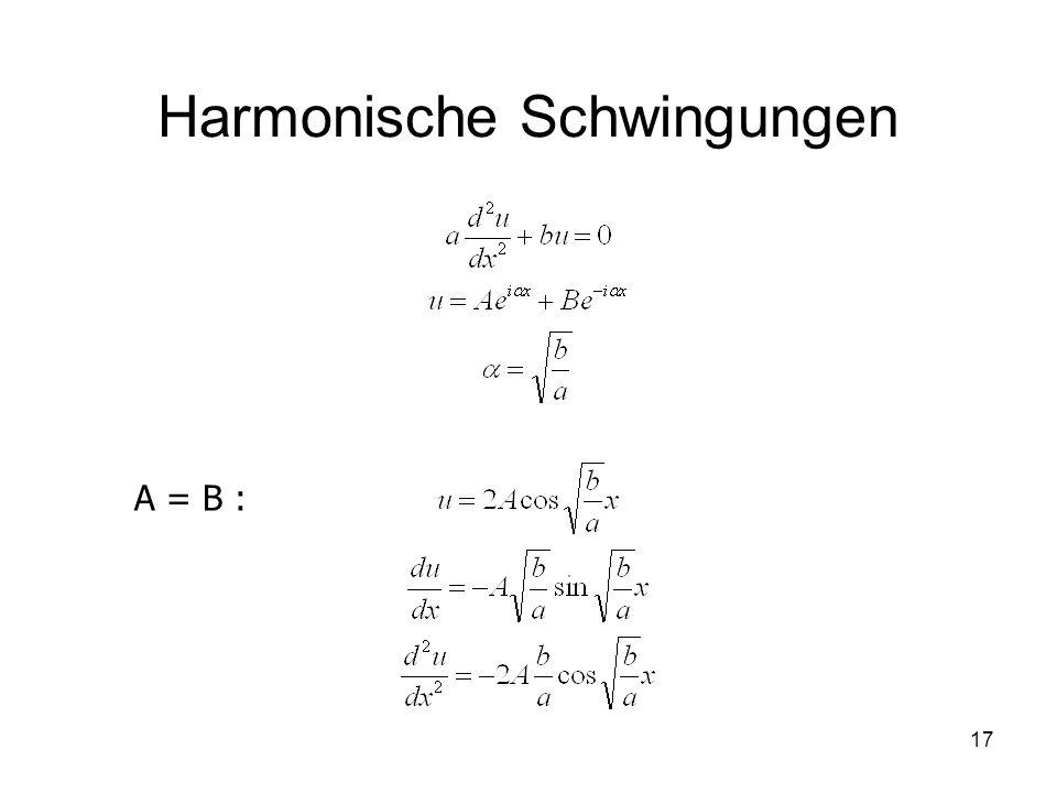 17 Harmonische Schwingungen A = B :