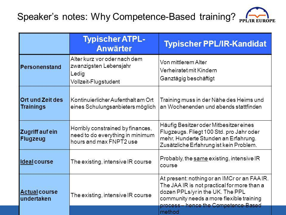 Speakers notes: Why Competence-Based training.