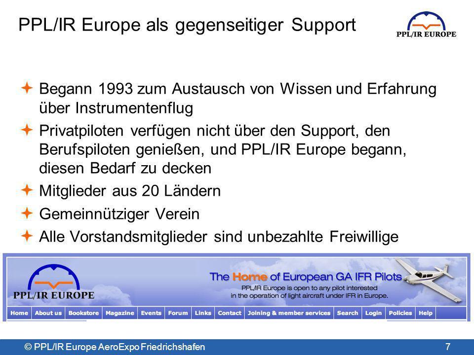 © PPL/IR Europe AeroExpo Friedrichshafen Halle A5 Stand 527 18