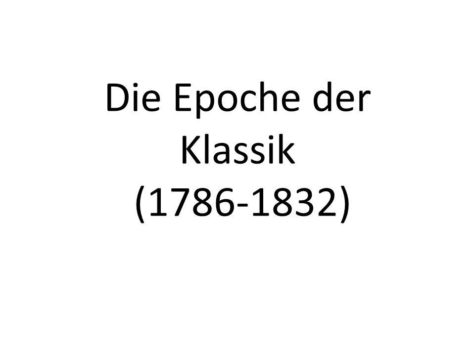 Gliederung 1 Begriffserläuterung 2 Grundgedanke 3 Merkmale 4 Weimarer Klassik 5 Johann Wolfgang von Goethe 6 Friedrich Schiller 7 Christoph Martin Wieland 8 Johann Gottfried Herder 9 Wirkung 10 Quellen