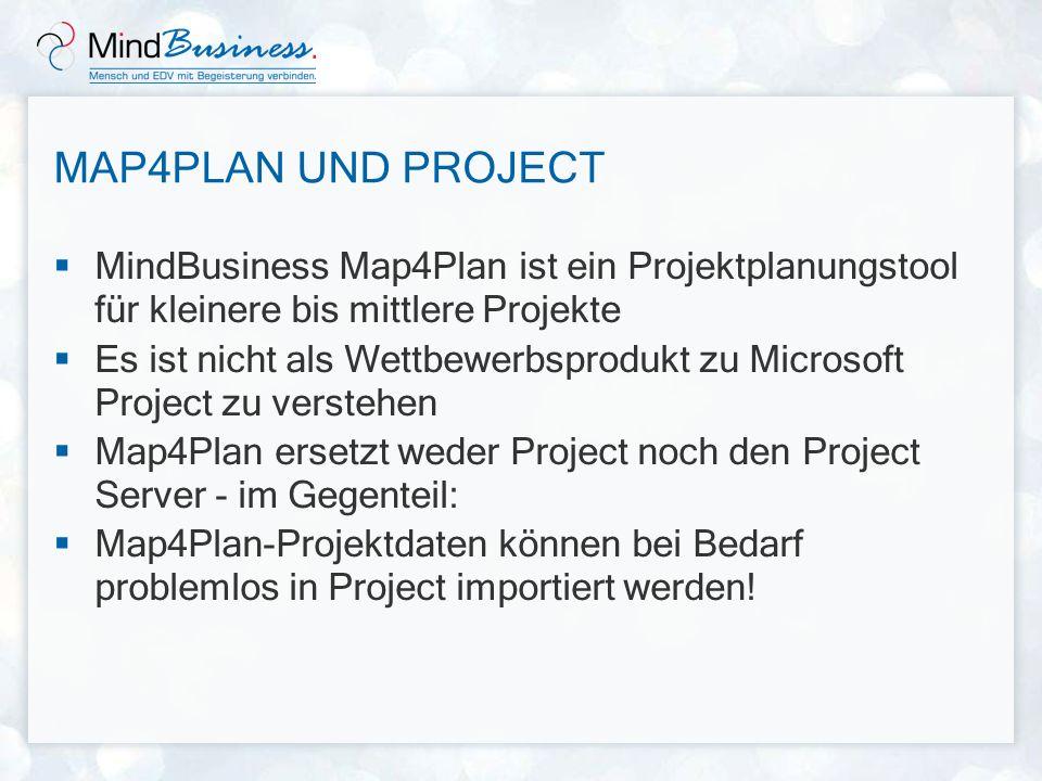 MAP4PLAN UND PROJECT MindBusiness Map4Plan ist ein Projektplanungstool für kleinere bis mittlere Projekte Es ist nicht als Wettbewerbsprodukt zu Micro