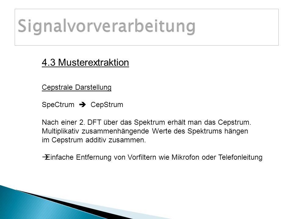 Cepstrale Darstellung SpeCtrum CepStrum Nach einer 2.