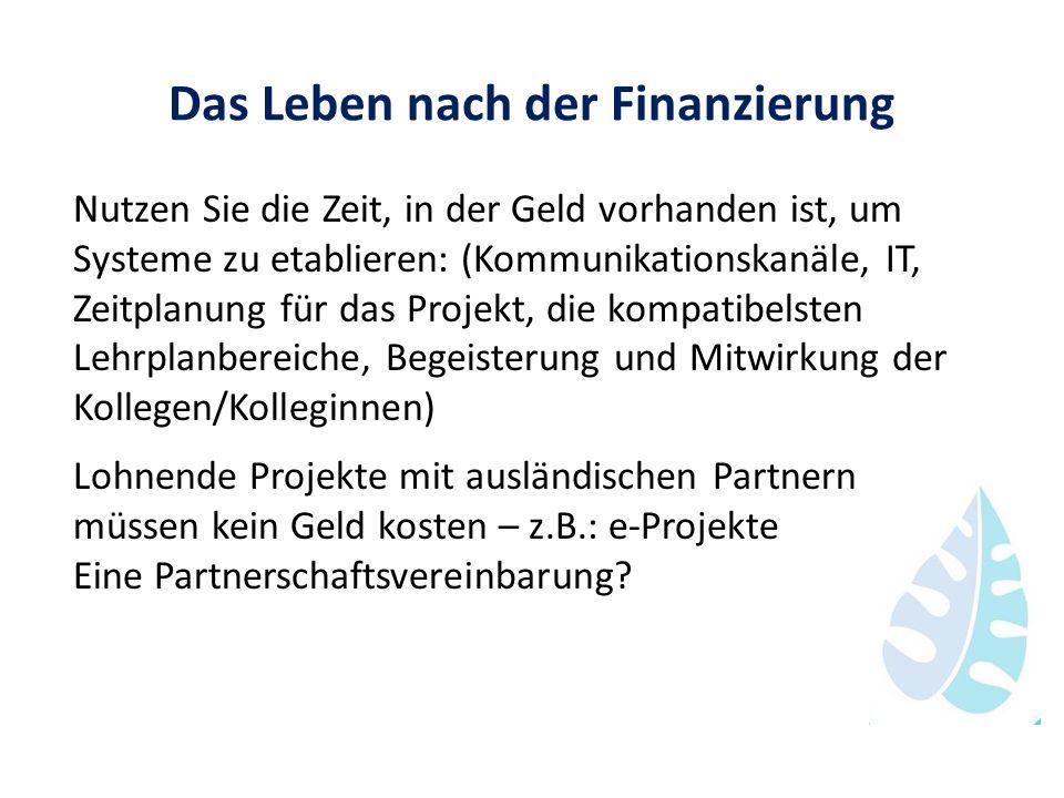 Das Leben nach der Finanzierung Nutzen Sie die Zeit, in der Geld vorhanden ist, um Systeme zu etablieren: (Kommunikationskanäle, IT, Zeitplanung für d