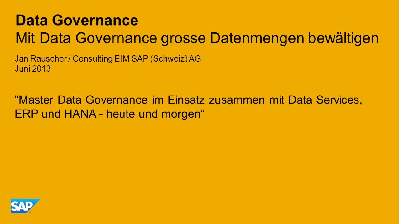 Data Governance Mit Data Governance grosse Datenmengen bewältigen