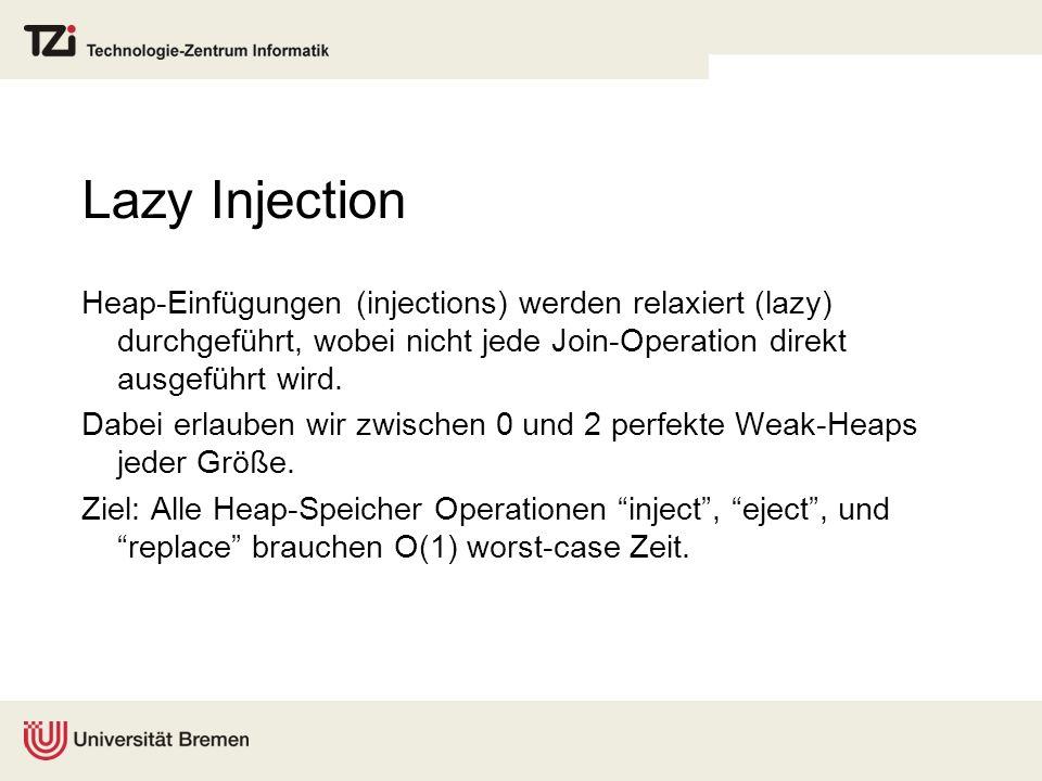 Lazy Injection Heap-Einfügungen (injections) werden relaxiert (lazy) durchgeführt, wobei nicht jede Join-Operation direkt ausgeführt wird.