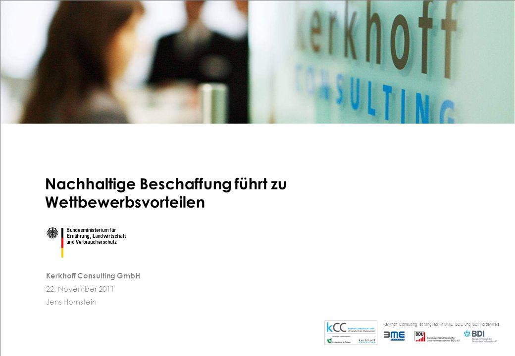 Kerkhoff Consulting ist Mitglied im BME, BDU und BDI Förderkreis.