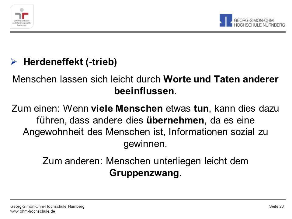 Zum Marktverhalten – einige Beispiele Georg-Simon-Ohm-Hochschule Nürnberg www.ohm-hochschule.de Seite 24