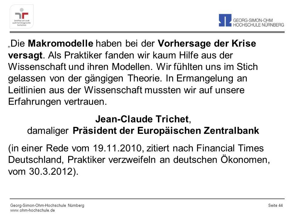 (Brutto-) Staatsschuldenstand und Krise Georg-Simon-Ohm-Hochschule Nürnberg www.ohm-hochschule.de Seite 45