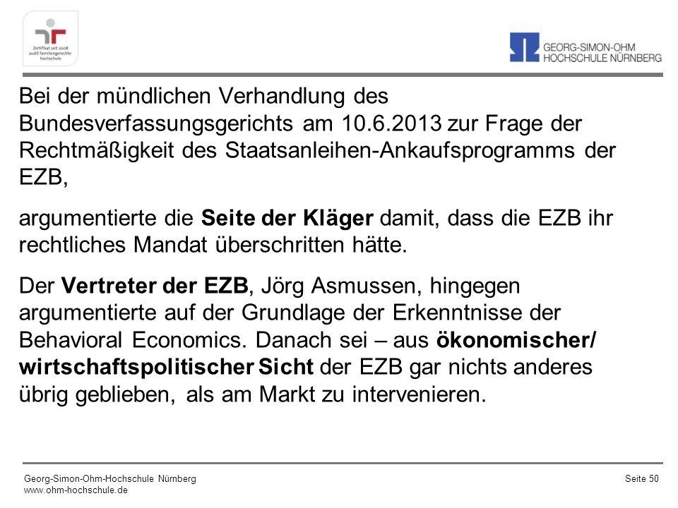 Quelle: Deutsche Bundesbank Georg-Simon-Ohm-Hochschule Nürnberg www.ohm-hochschule.de Seite 51
