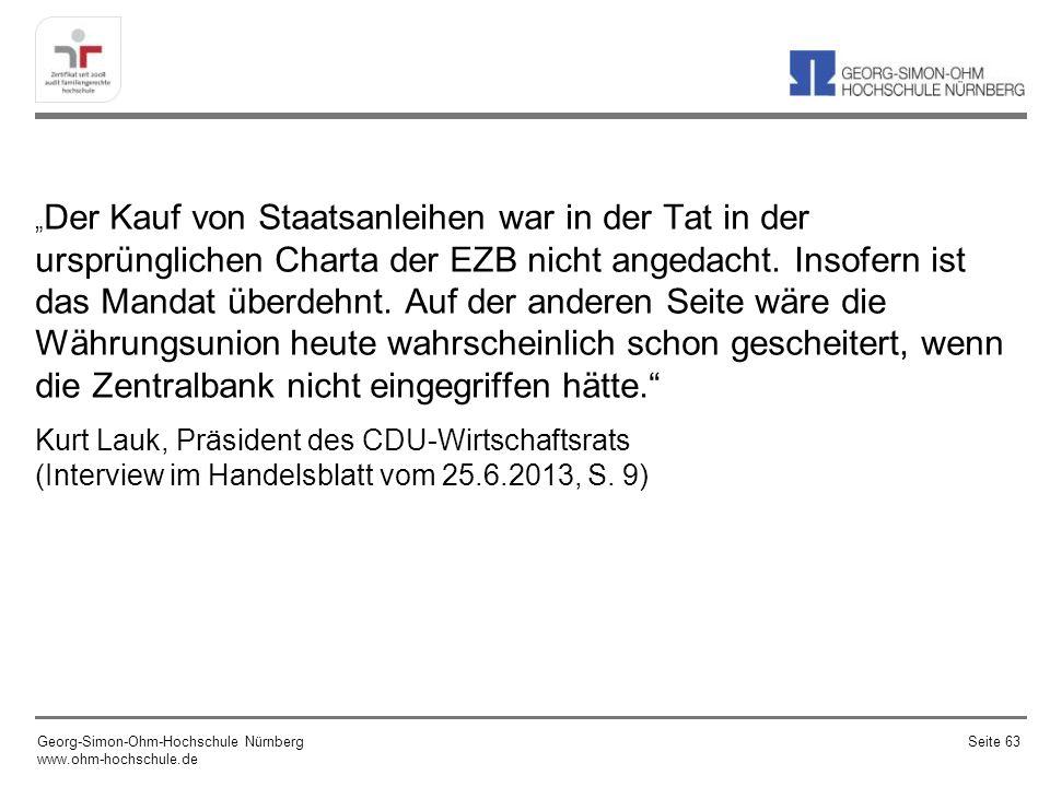 Quelle: Geldpolitik vor Gericht, Institut der deutschen Wirtschaft, iwd, Ausg.