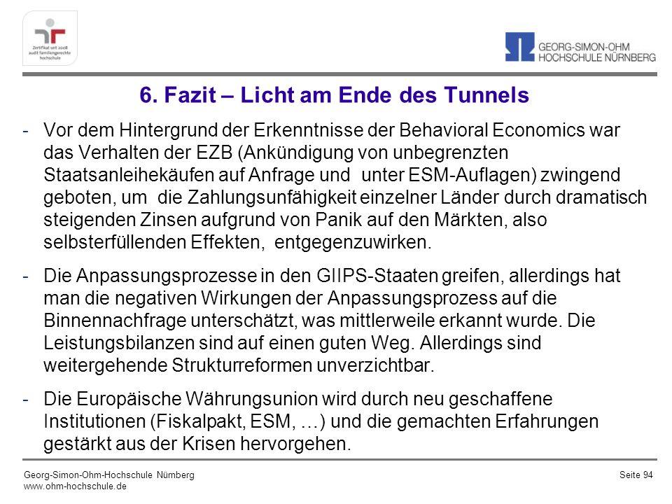 Literaturempfehlungen Görgens, E., Ruckriegel, K., Seitz, F., Europäische Geldpolitik, 6.