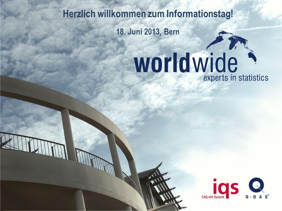Q–DAS ® | Experts in Statistics 1 © Copyright Q-DAS® GmbH & Co. KG Herzlich willkommen zum Informationstag! 18. Juni 2013, Bern