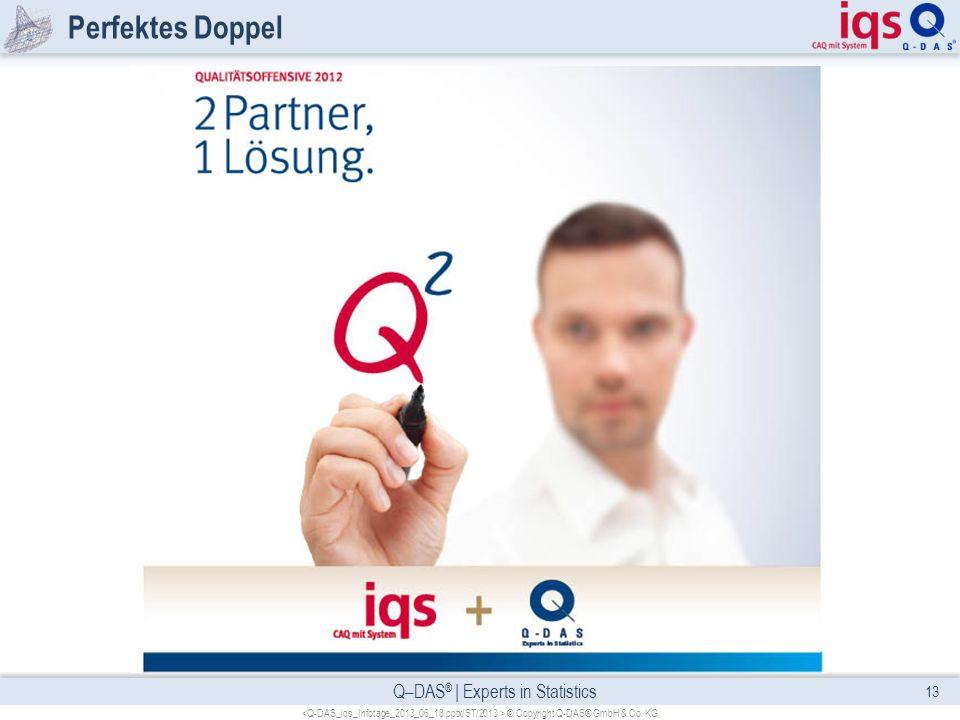 Q–DAS ® | Experts in Statistics Perfektes Doppel 13 © Copyright Q-DAS® GmbH & Co. KG