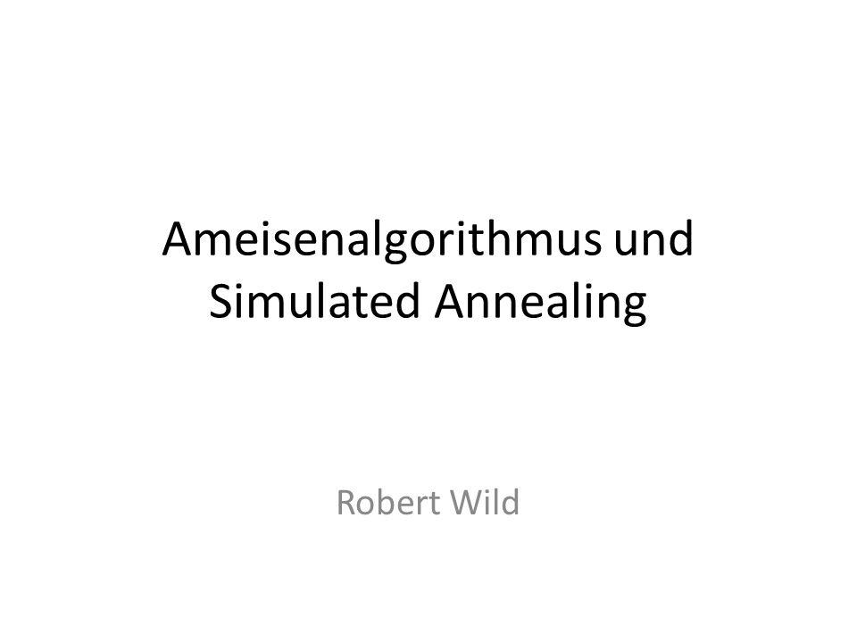 Simulated Annealing Erweiterung der lokalen Suche Problem: findet nur lokales Minimum