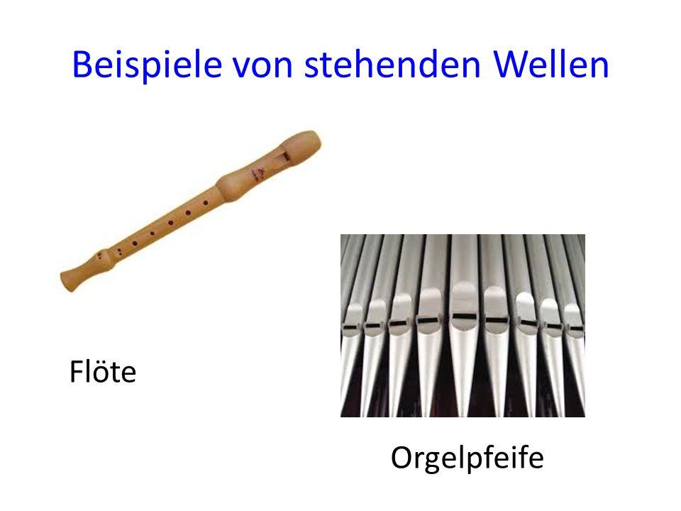 Beispiele von stehenden Wellen Flöte Orgelpfeife