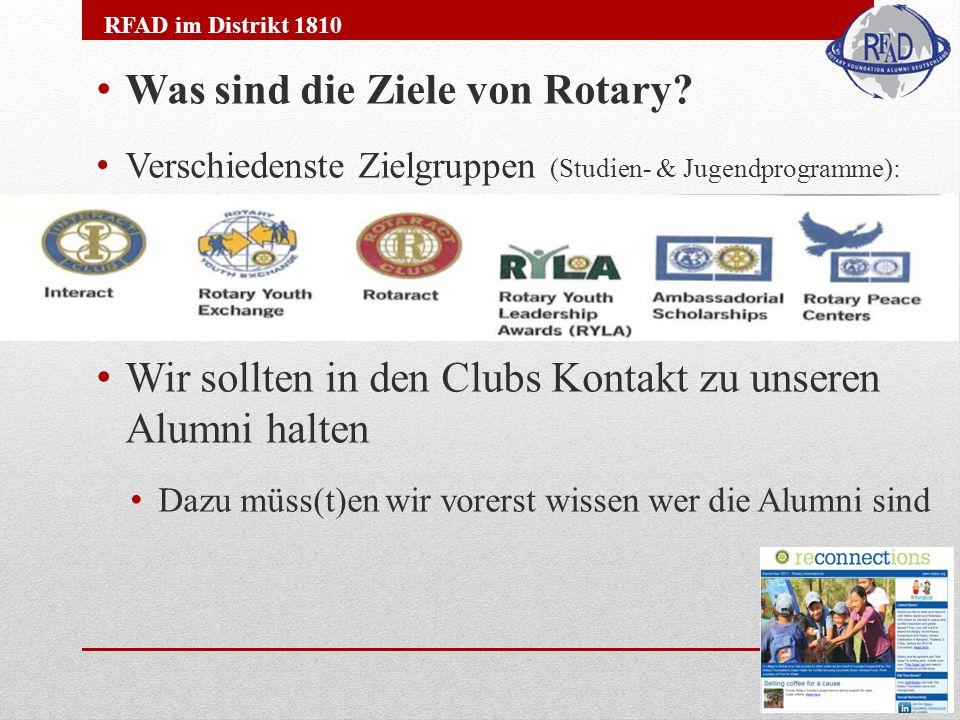 Was sind die Ziele von Rotary.