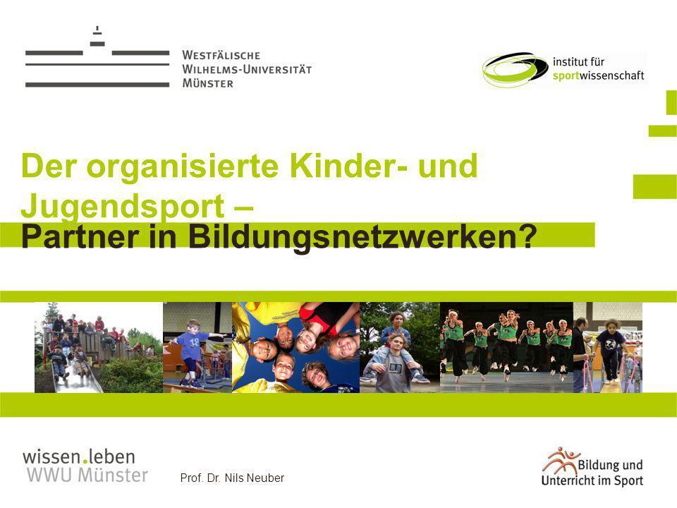 Prof. Dr. Nils Neuber Der organisierte Kinder- und Jugendsport – Partner in Bildungsnetzwerken?
