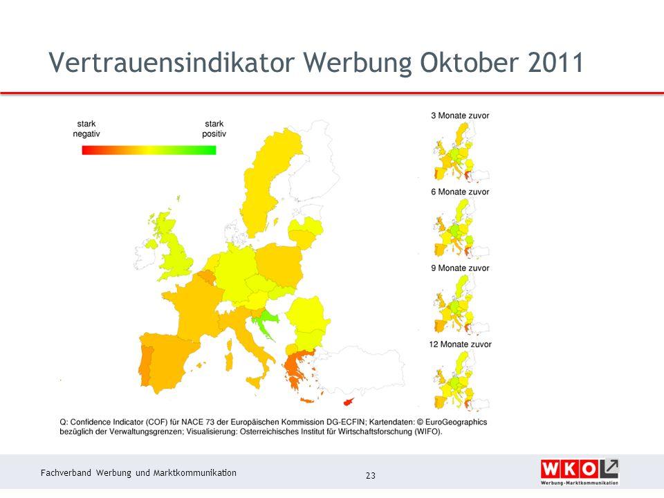 Fachverband Werbung und Marktkommunikation Vertrauensindikator Werbung Oktober 2011 23