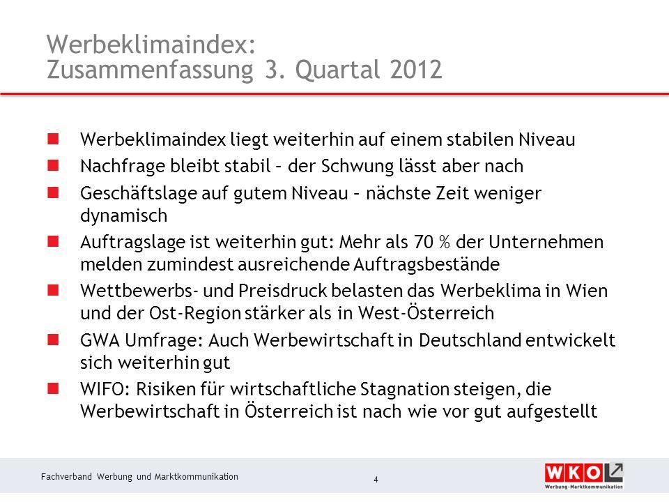 Fachverband Werbung und Marktkommunikation Werbeklimaindex: Zusammenfassung 3.