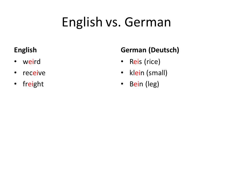 English vs.