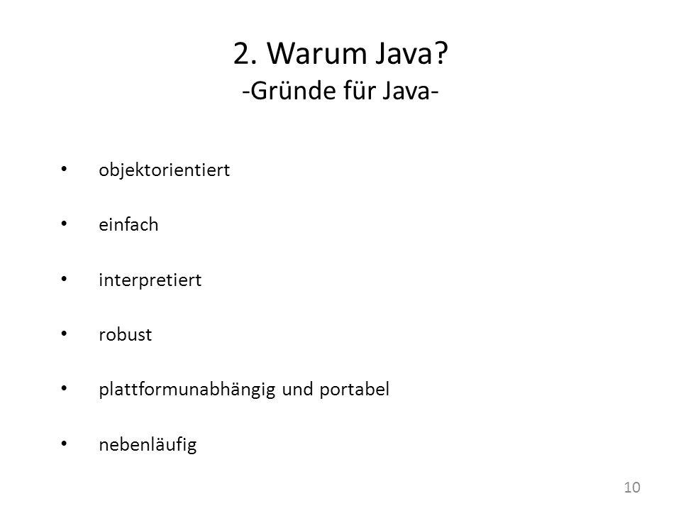 2.Warum Java.