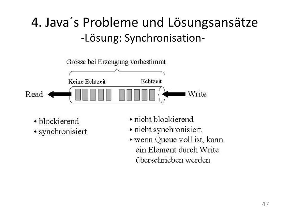 4. Java´s Probleme und Lösungsansätze -Lösung: Synchronisation- 47