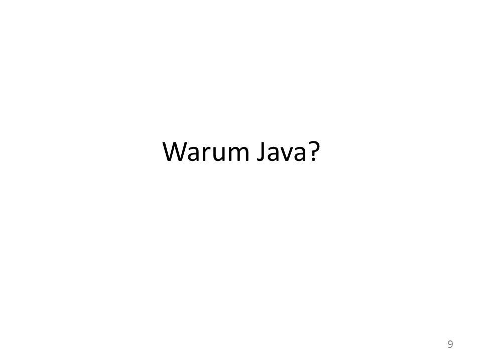 Warum Java? 9