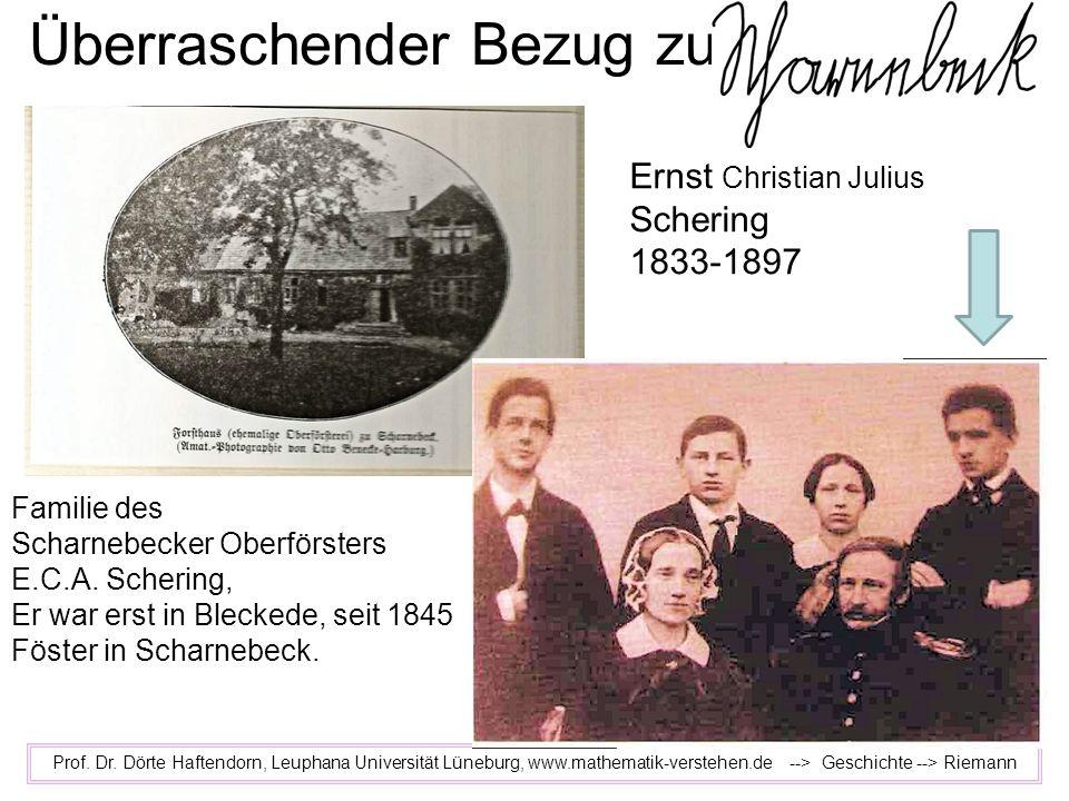 Überraschender Bezug zu Prof. Dr. Dörte Haftendorn, Leuphana Universität Lüneburg, www.mathematik-verstehen.de --> Geschichte --> Riemann Familie des