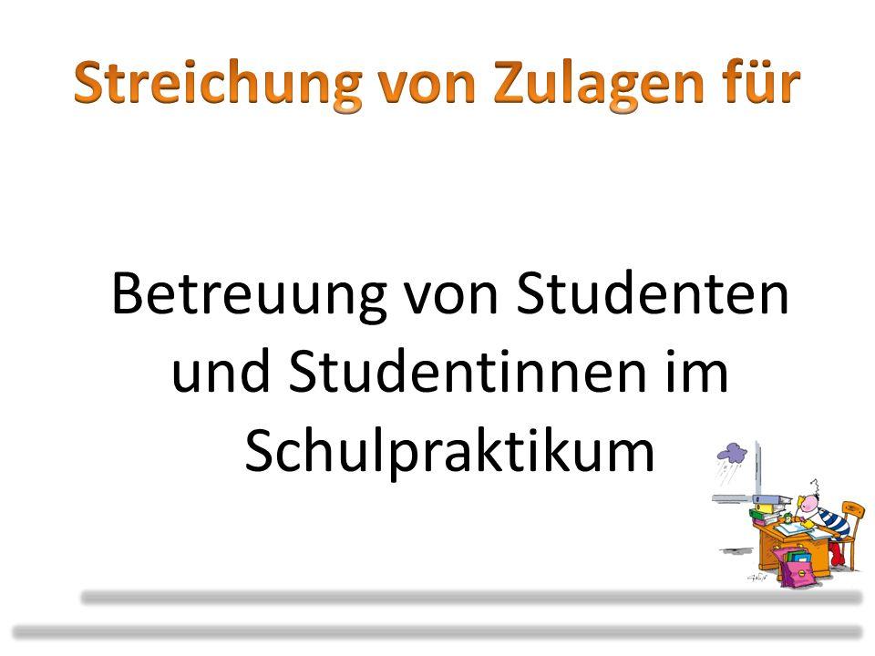 Betreuung von Studenten und Studentinnen im Schulpraktikum