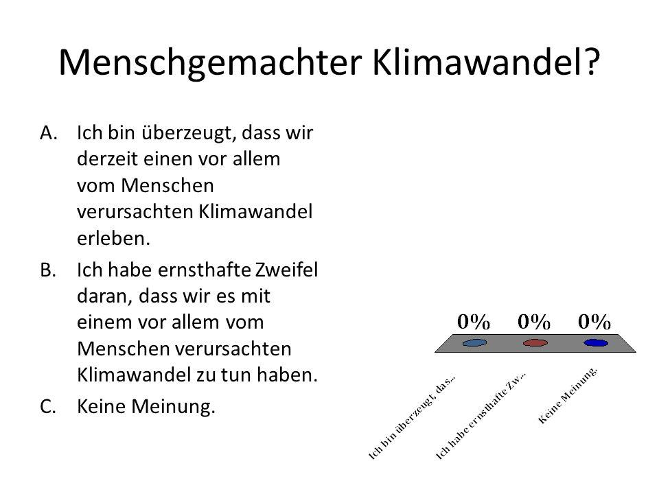Menschgemachter Klimawandel.