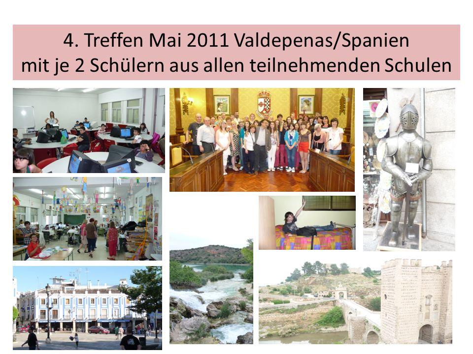 4. Treffen Mai 2011 Valdepenas/Spanien mit je 2 Schülern aus allen teilnehmenden Schulen