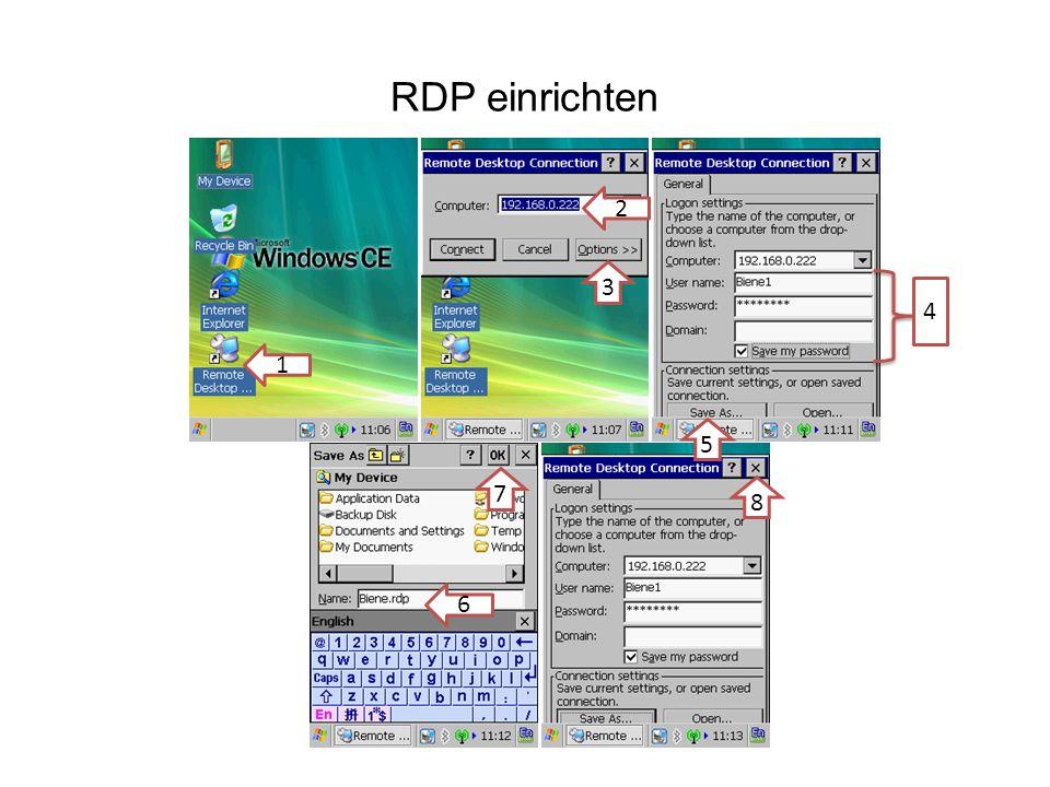 RDP einrichten 1 2 6 3 4 5 7 8