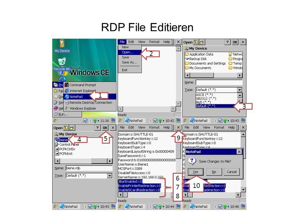 RDP File Editieren 1 2 3 4 5 678678 9 10