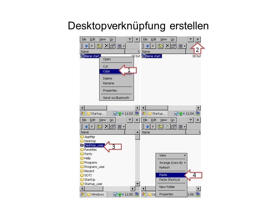 Desktopverknüpfung erstellen 1 2 3 4