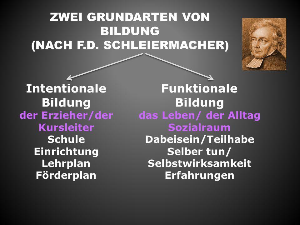 ZWEI GRUNDARTEN VON BILDUNG (NACH F.D.