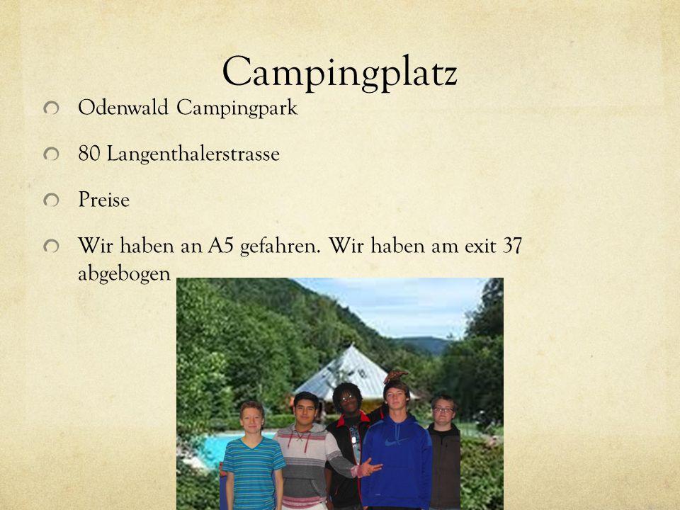 Campingplatz Odenwald Campingpark 80 Langenthalerstrasse Preise Wir haben an A5 gefahren. Wir haben am exit 37 abgebogen