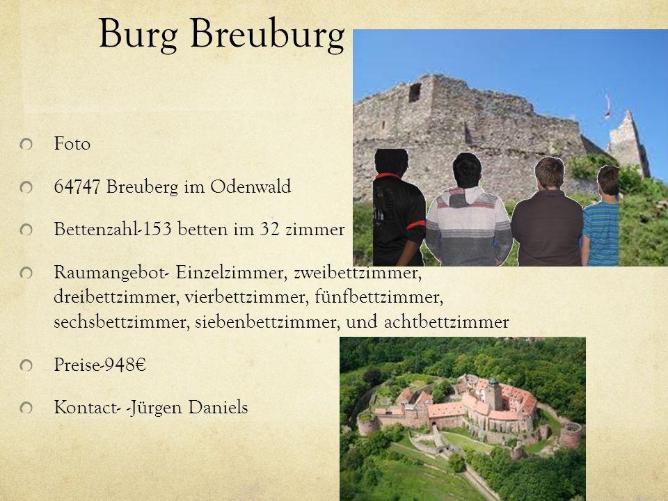 Burg Breuburg Foto 64747 Breuberg im Odenwald Bettenzahl-153 betten im 32 zimmer Raumangebot- Einzelzimmer, zweibettzimmer, dreibettzimmer, vierbettzi