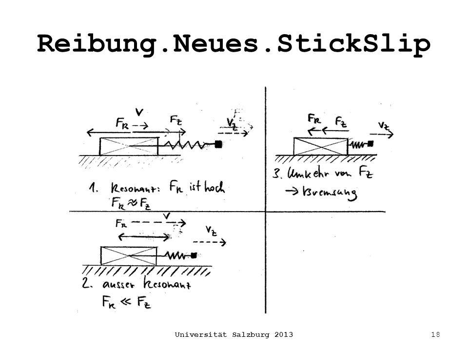 Reibung.Neues.StickSlip Universität Salzburg 201318