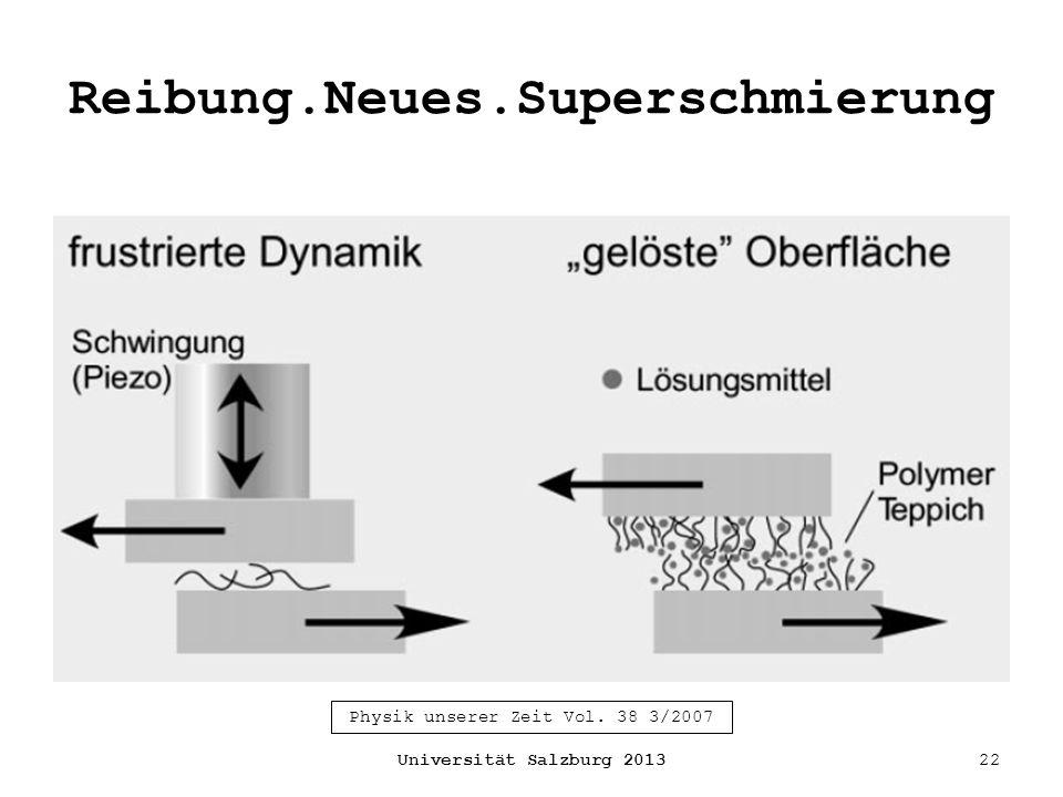 Reibung.Neues.Superschmierung Universität Salzburg 201322 Physik unserer Zeit Vol. 38 3/2007