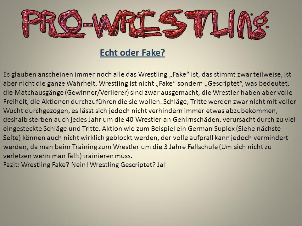 Echt oder Fake? Es glauben anscheinen immer noch alle das Wrestling Fake ist, das stimmt zwar teilweise, ist aber nicht die ganze Wahrheit. Wrestling