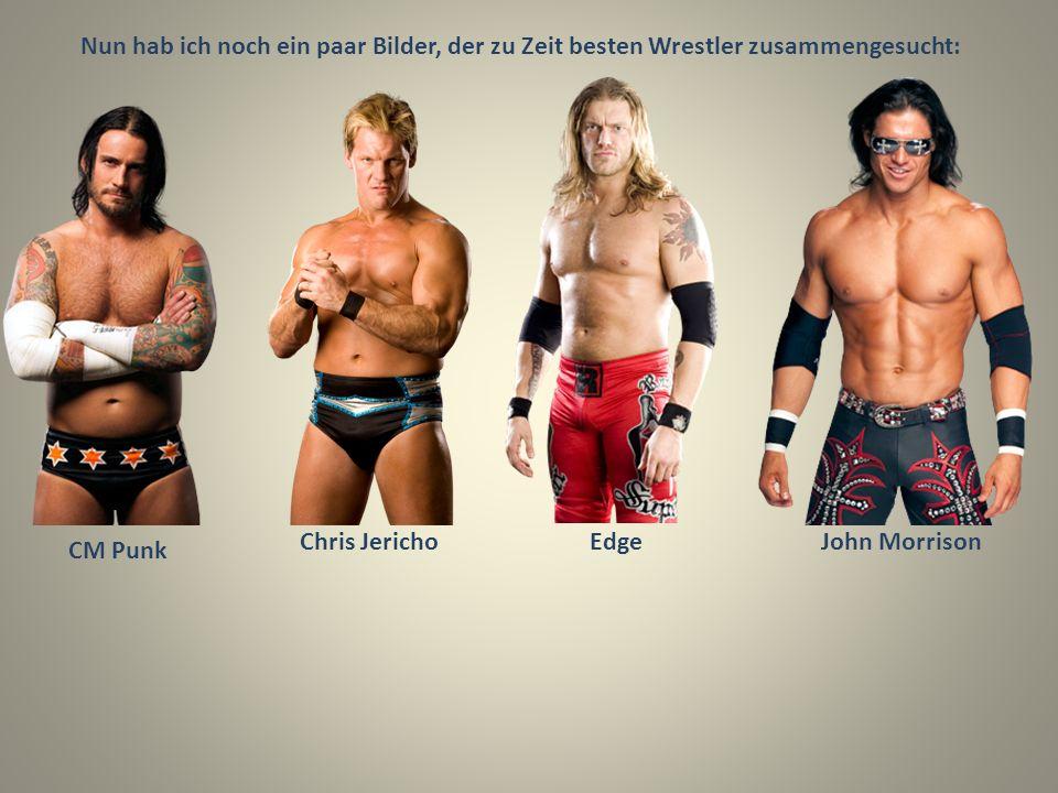 Nun hab ich noch ein paar Bilder, der zu Zeit besten Wrestler zusammengesucht: CM Punk Chris JerichoEdgeJohn Morrison