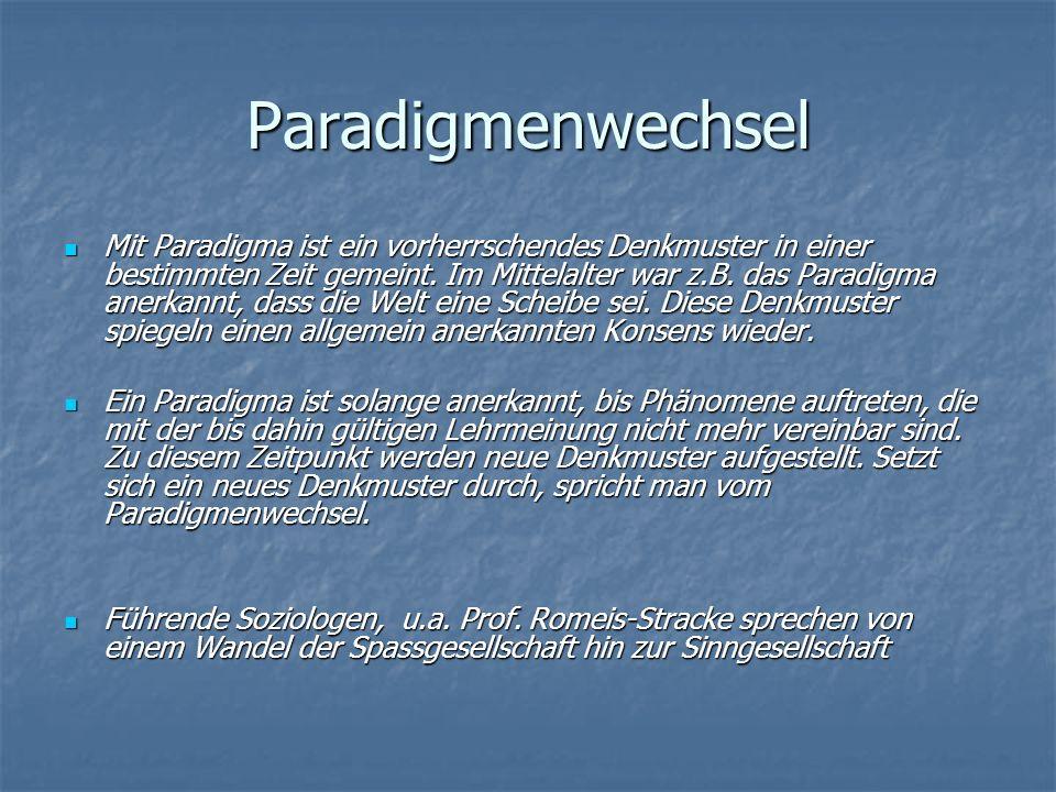 Paradigmenwechsel Mit Paradigma ist ein vorherrschendes Denkmuster in einer bestimmten Zeit gemeint. Im Mittelalter war z.B. das Paradigma anerkannt,