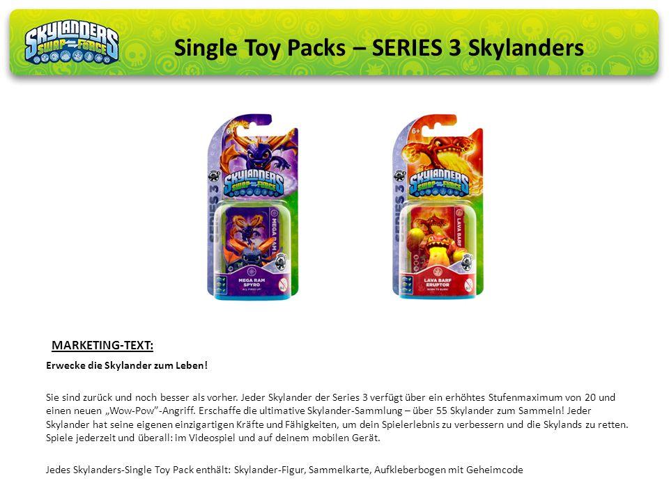 Erwecke die Skylander zum Leben! Sie sind zurück und noch besser als vorher. Jeder Skylander der Series 3 verfügt über ein erhöhtes Stufenmaximum von